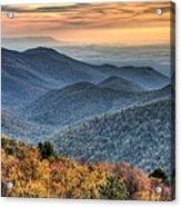 Shenandoah National Park Sunset Acrylic Print