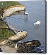 Shoreline Fishing Squares, île Madame Acrylic Print