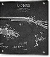 Shotgun Patent Drawing From 1918 Acrylic Print
