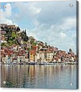Sibenik Town On Adriatic Sea  Acrylic Print