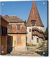 Sighisoara Transylvania Medieval Historic Town In Romania Europe Acrylic Print