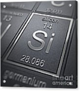 Silicon Chemical Element Acrylic Print