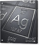 Silver Chemical Element Acrylic Print