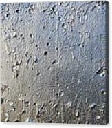 Silver Paint Texture Acrylic Print