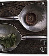 Silver Spoons Acrylic Print by Edward Fielding