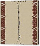 Sinnott Written In Ogham Acrylic Print
