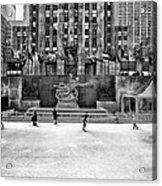 Skating At Rockefeller Plaza Acrylic Print