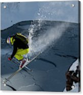 Skier Jumping On A Sunny Day Acrylic Print