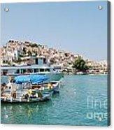 Skopelos Harbour Greece Acrylic Print