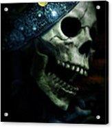 Skull In Crown Acrylic Print