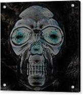 Skull In Negative Acrylic Print