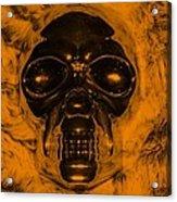 Skull In Orange Acrylic Print