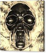 Skull In Sepia Acrylic Print