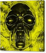 Skull In Yellow Acrylic Print