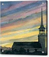 Sky And Steeple Acrylic Print