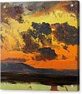 Sky At Sunset Jamaica West Indies Acrylic Print