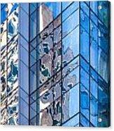 Sky Blue Glass Acrylic Print