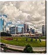 Skyline Of Charlotte Towers Acrylic Print