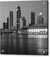 Skyline Of Tampa Along Waterfront Acrylic Print