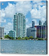 Skylines At The Waterfront, Miami Acrylic Print