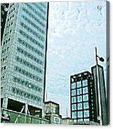 Skyscrapers In Leeuwarden-netherlands  Acrylic Print