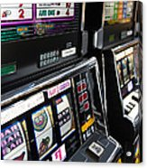 Slot Machines At An Airport, Mccarran Acrylic Print