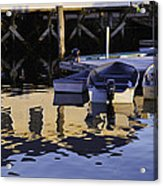 Small Boats And Dock In Port Clyde Maine Acrylic Print