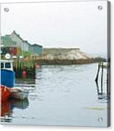 Boats In Peggy's Cove Acrylic Print