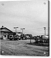 small roadside esso service gas station leader Saskatchewan Canada Acrylic Print