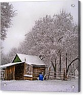 Snowy Day On The Farm Acrylic Print