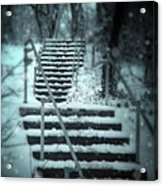 Snowy Stairway Acrylic Print