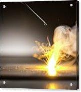 Sodium Burning In Water Acrylic Print