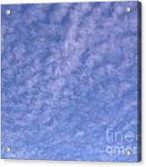 Soft Clouds In The Blue Sky Acrylic Print