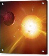 Solar System Formation, Artwork Acrylic Print