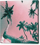 South Beach Miami Tropical Art Deco Wide Palms Acrylic Print