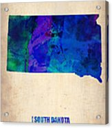 South Carolina Watercolor Map Acrylic Print