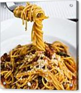 Spaghetti On The Fork Acrylic Print by Tosporn Preede
