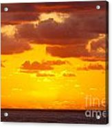 Spectacular Dramatic Orange Sunset Over The Ocean Acrylic Print