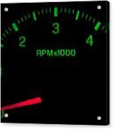 Speedometer On Black Isolated Acrylic Print