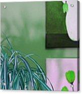 Spider Plant - Green Tulips - Still Life Acrylic Print