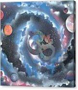 Spiral Galaxy Om Acrylic Print
