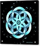 Spirit Of Water 1 - Blue With Water Drops Acrylic Print