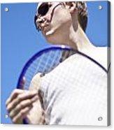 Sporting A Racquet Acrylic Print