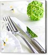 Spring Table Setting Acrylic Print