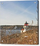 Squirrel Point Lighthouse Kennebec River Maine Acrylic Print