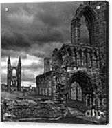 St Andrews Cathedral And Gravestones Acrylic Print