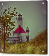 St. Joseph North Pier Lighthouse Lake Michigan. Acrylic Print