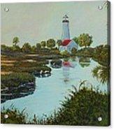 St. Marks Lighthouse Acrylic Print