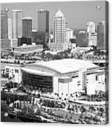 St. Pete Times Forum And Tampa Skyline Acrylic Print