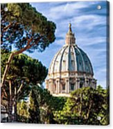 St Peters Basilica Dome Acrylic Print